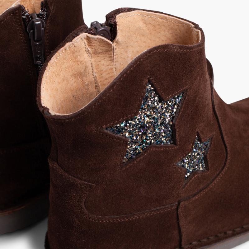 Botas Estrelas Menina e Mulher com Fecho-éclair