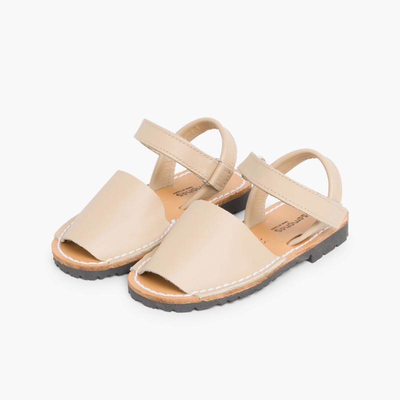 Sandálias Criança Menorquinas Napa Velcro