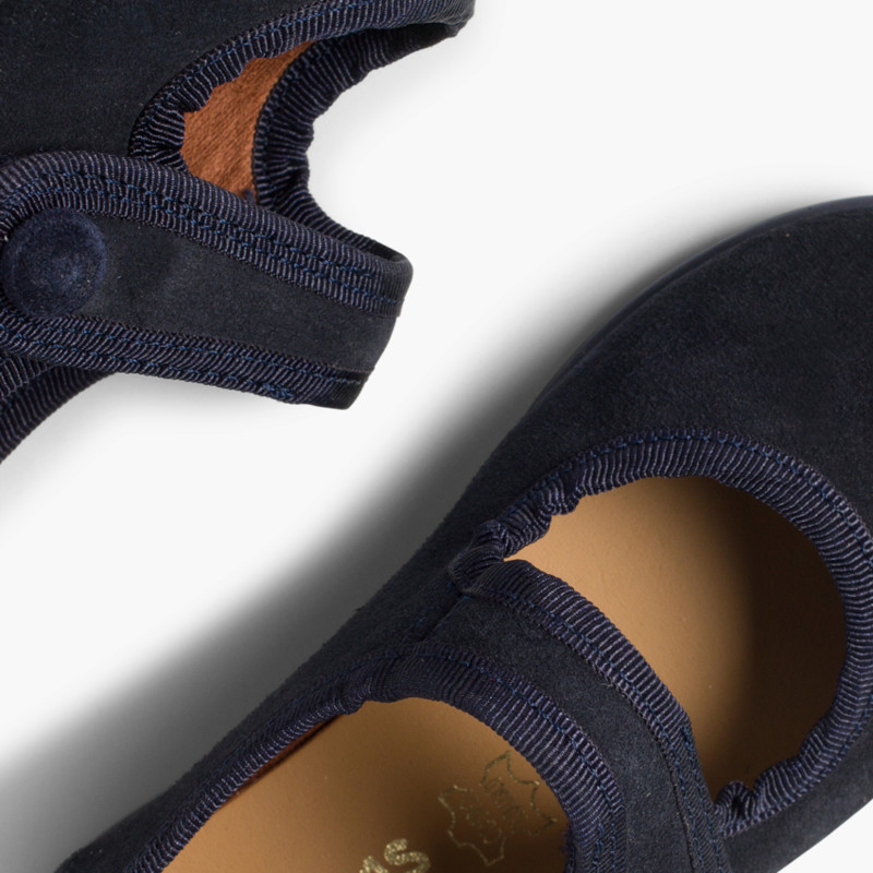 Sapatos Merceditas Camurça Velcro para Meninas