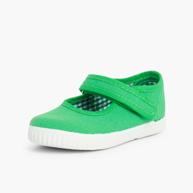 4cb4072756f Sapatos Merceditas Menina Velcro Sola tipo Ténis