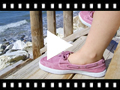 Video from Sapatos de Vela de Lona com Sola Branca