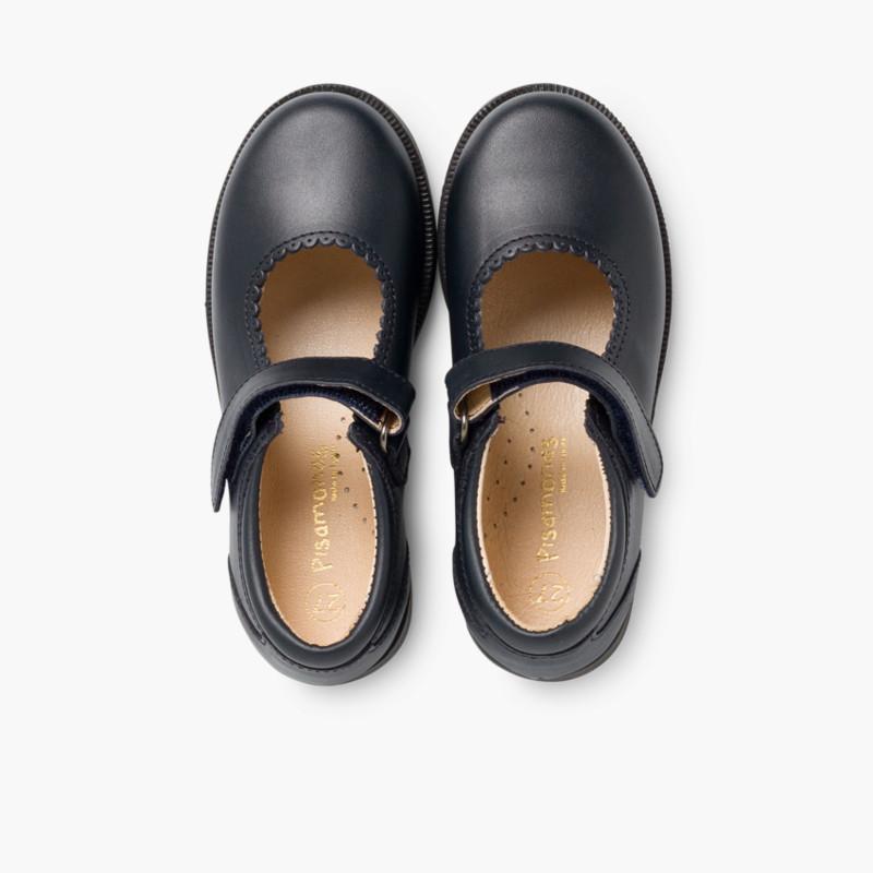 bfb3f2ac1d2 Sapatos Colegiais Menina com Velcro - Sapataria Infantil Pisamonas