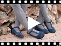 Video from Sapatos Merceditas Menina Camurça com fecho pulseira