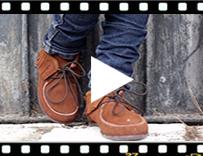 Video from Botins de Franjas para Crianças e Mulher