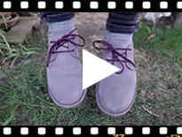Video from Sapatos Blucher Camurça Sola e Atacadores Cores