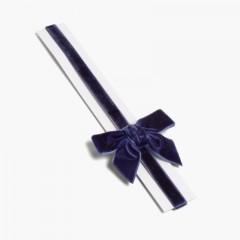 Bandolete elástica de veludo com laço