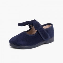 Sapatos Menina Bamara tiras aderentes   Laço Azul-marinho