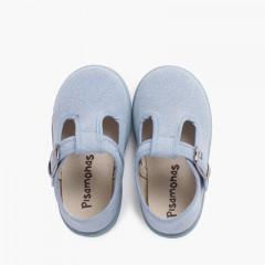Sapato Pepito Casual Sola Sport ao Tom Celeste