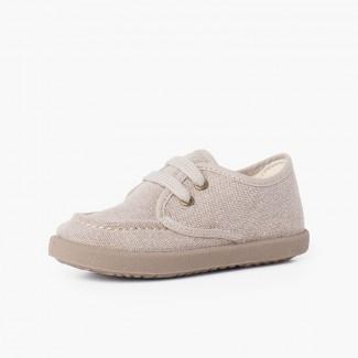 Sapatos de Vela Lona Casual Sport Tostado