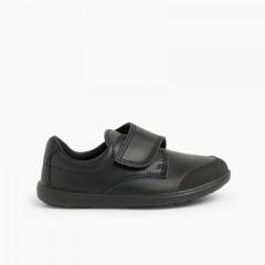 Sapatos Colegiais Menino com Biqueira Reforçada Preto