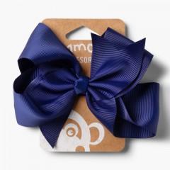 Elástico de Cabelo Meninas Laço Extra-Grande Azul-marinho