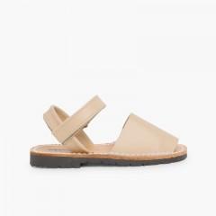Sandálias Criança Menorquinas Napa Velcro Areia