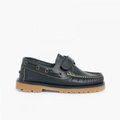 Sapatos de Vela com Velcro Azul-marinho