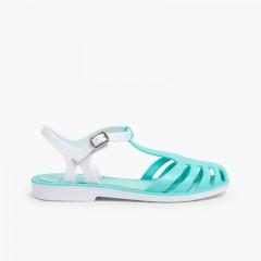 Sandálias de Borracha Menina Laida Mini Água-marinha