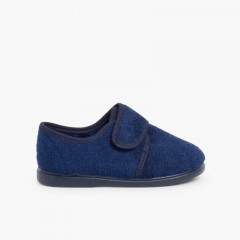 Pantufas Velcro Azul-marinho