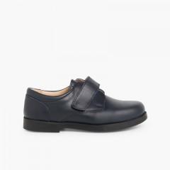 Sapatos Colegiais Menino Velcro Azul-marinho