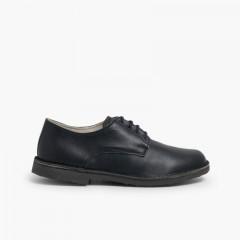Sapatos Oxford Menino Pele Azul-marinho