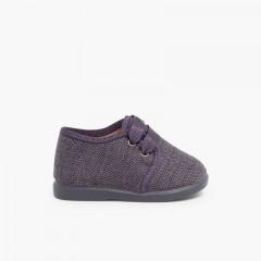 Sapatos de Tela tipo Blucher Menino Cinzento