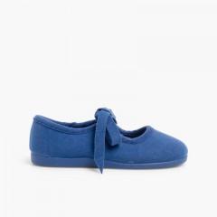 Sapatos tipo Camurça Norteñas com Laço Azulão