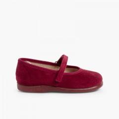 Sapatos Merceditas Bamara com Velcro Bordeaux