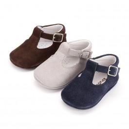 Sapato Pepito Camurça Bebé com Fivela
