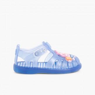 Sandálias de borracha Menino/a George Pig Azul