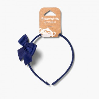 Bandolete fina com laço Azul-marinho