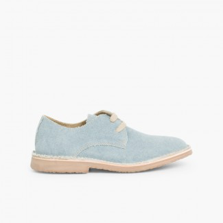 Sapatos Blucher Tela de Saco Azul