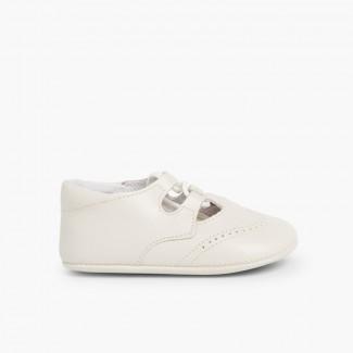Sapato Estilo Inglês Bebé Pele Bege