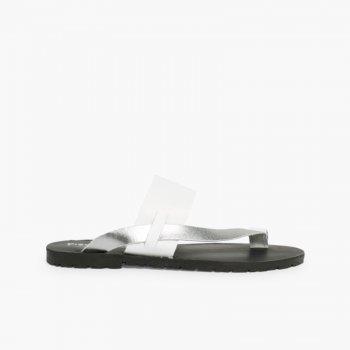 Sandálias Dedo Napa Metalizada
