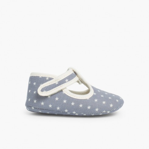 Sapatos Pepito Bebé Tela Estrelas Azul-marinho