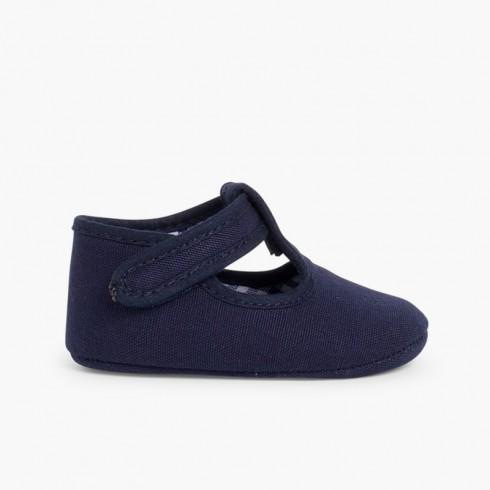 Sapatos Pepito Bebé Tela Velcro Azul-marinho