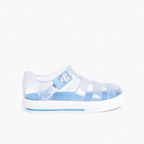 Sandálias de Borracha Igor modelo Tenis Celeste