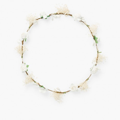 Coroa de flores e gypsophila Branco