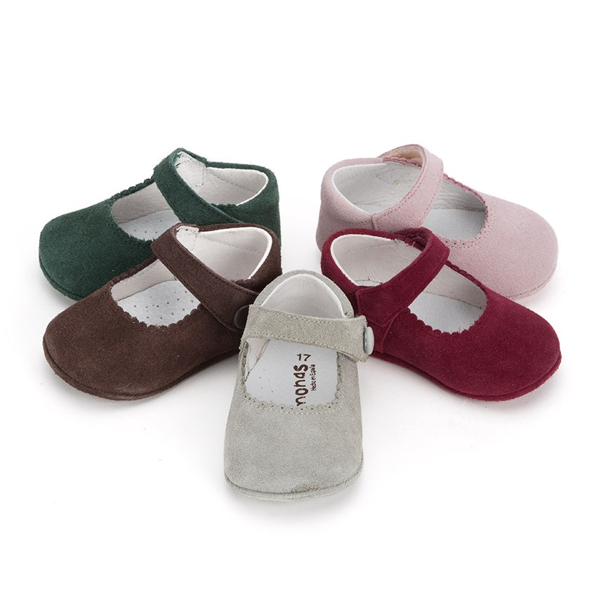 Sapato Mercedita Camurça Bebé com Velcro