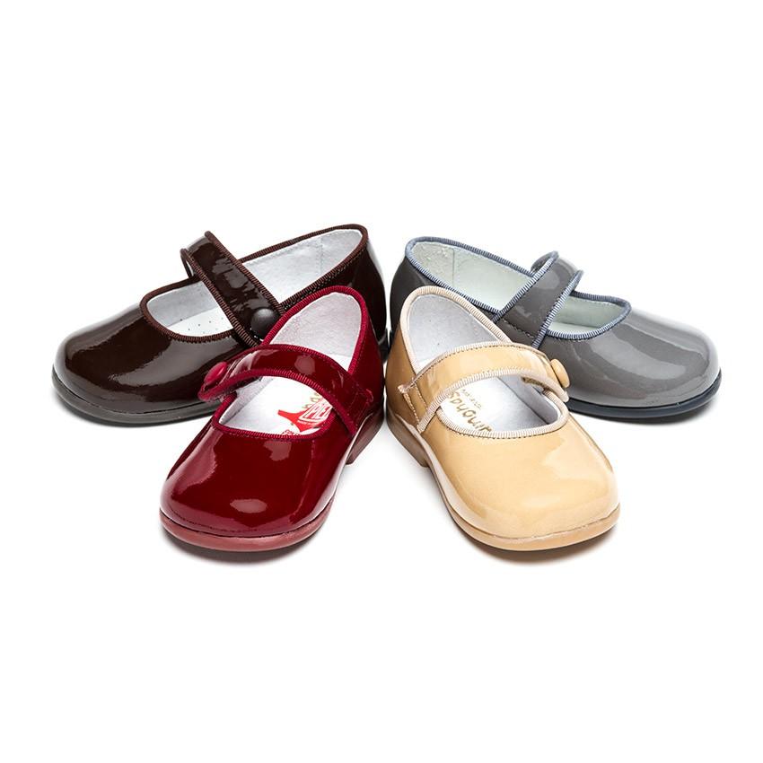 Sapatos Merceditas Verniz Menina com tiras aderentes