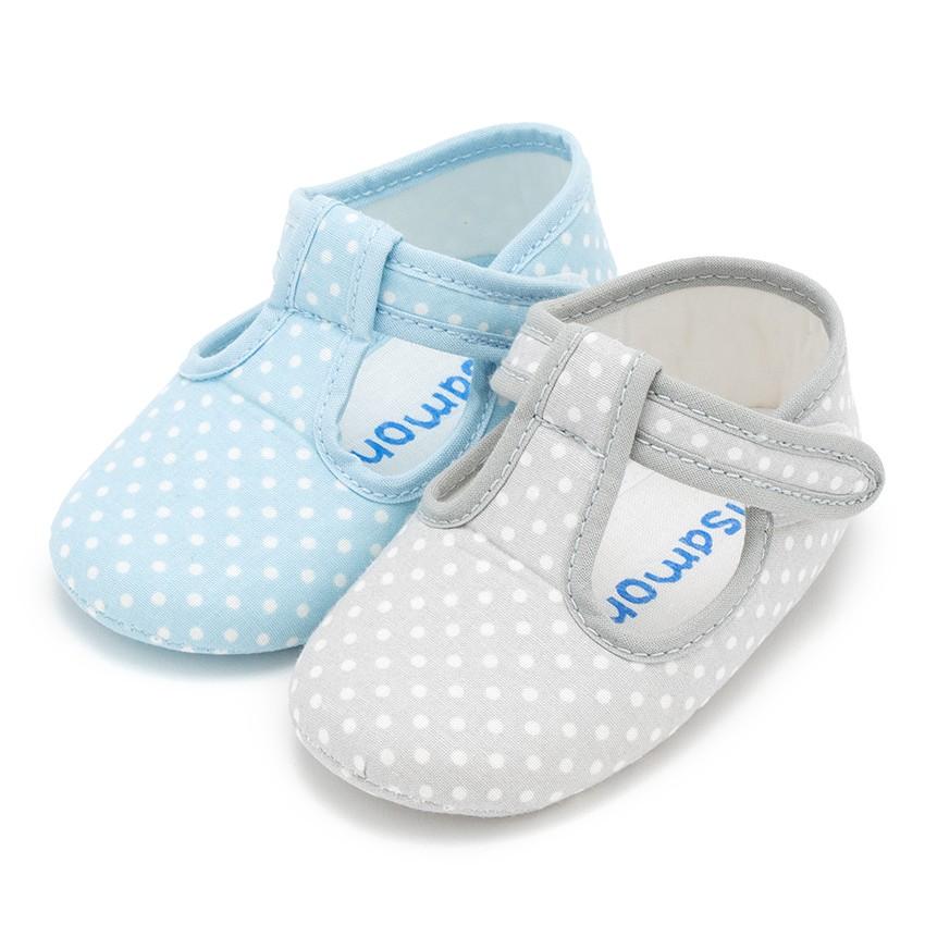 Sapatos Pepito tiras aderentes   Bolinhas