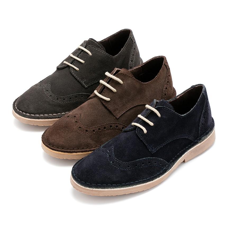 Sapatos Blucher com Picotado