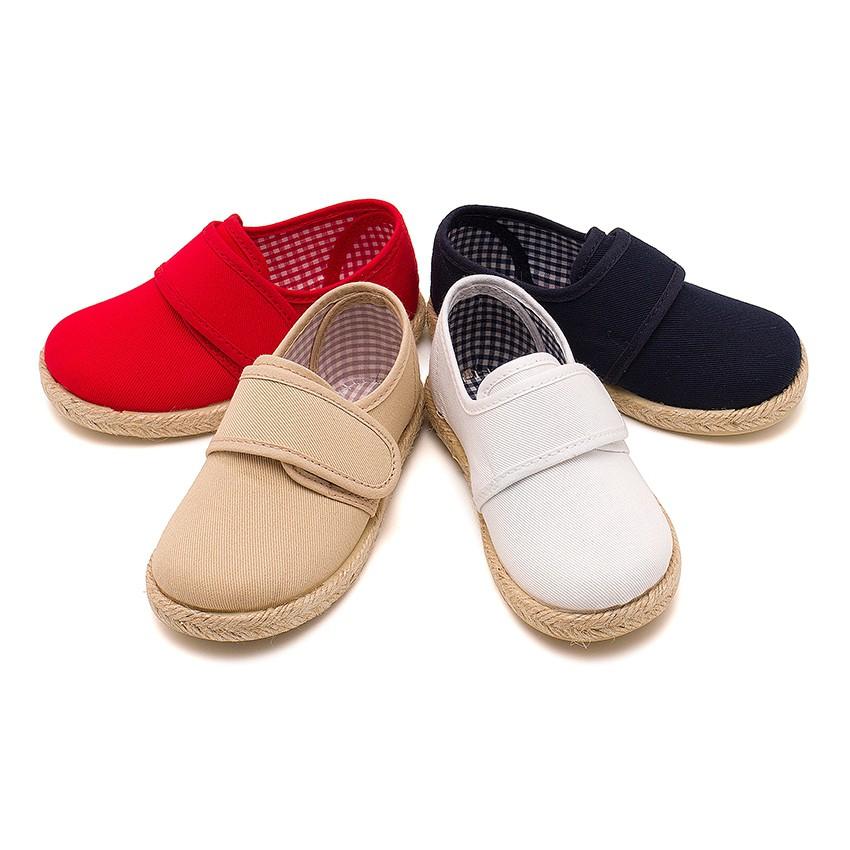 Sapatos Blucher Velcro Sola Alpargata