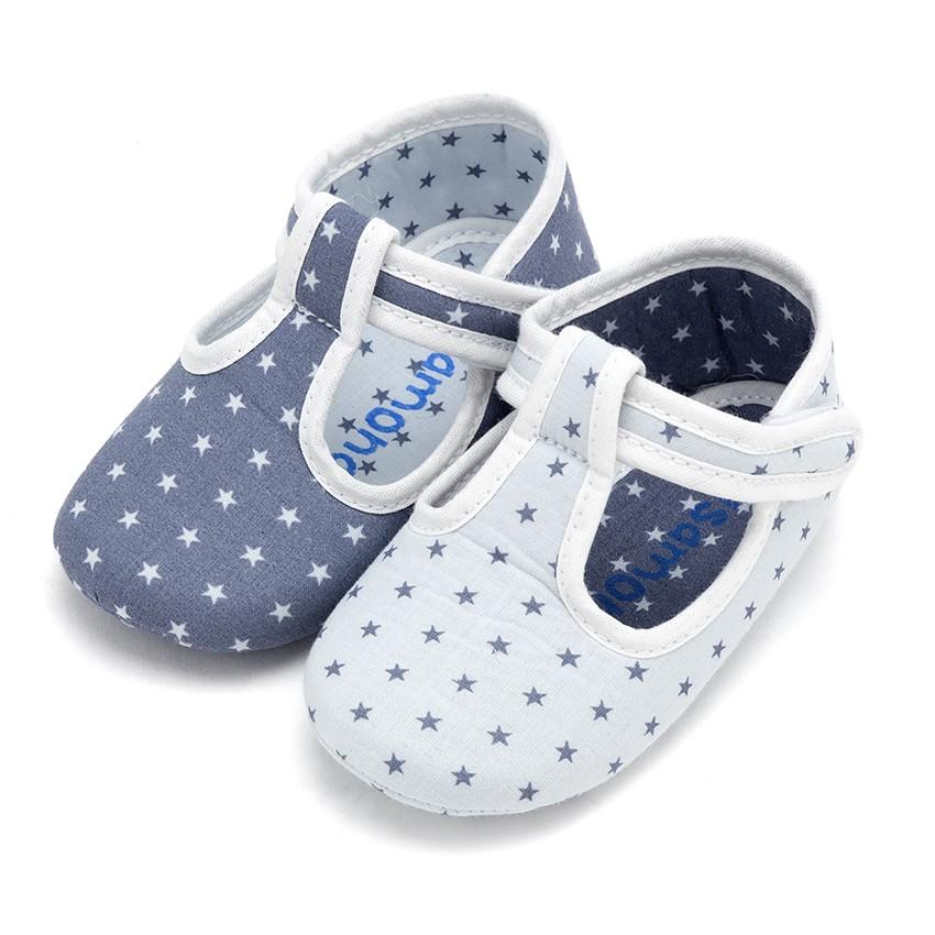 Sapatos Pepito Bebé Tela Estrelas