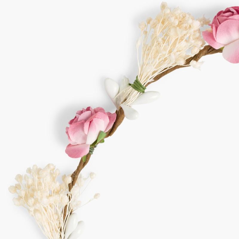 Coroa de flores e gypsophila