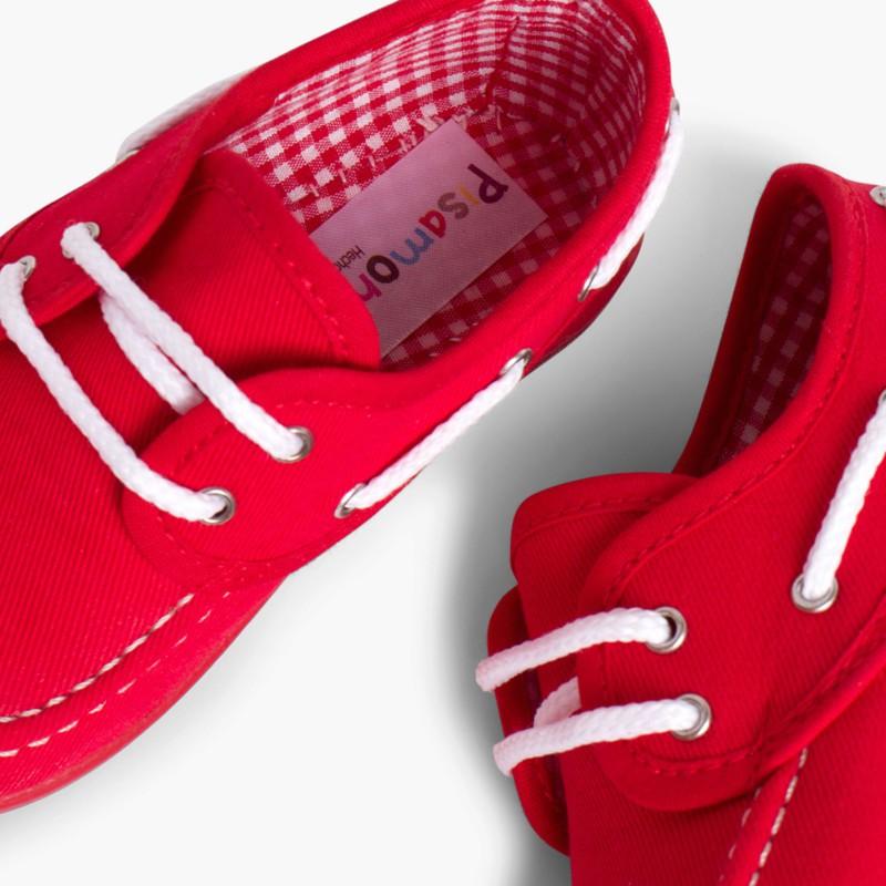 Sapatos de Vela Tecido com Atacadores