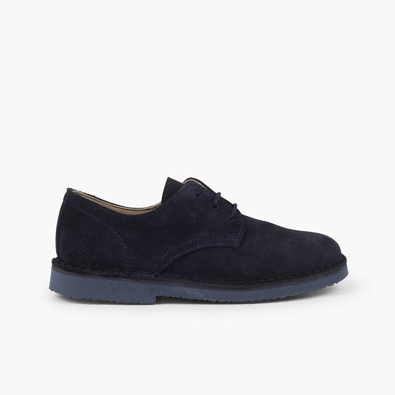 Bluchers Camurça Lisos Sapatos de Festa Menino