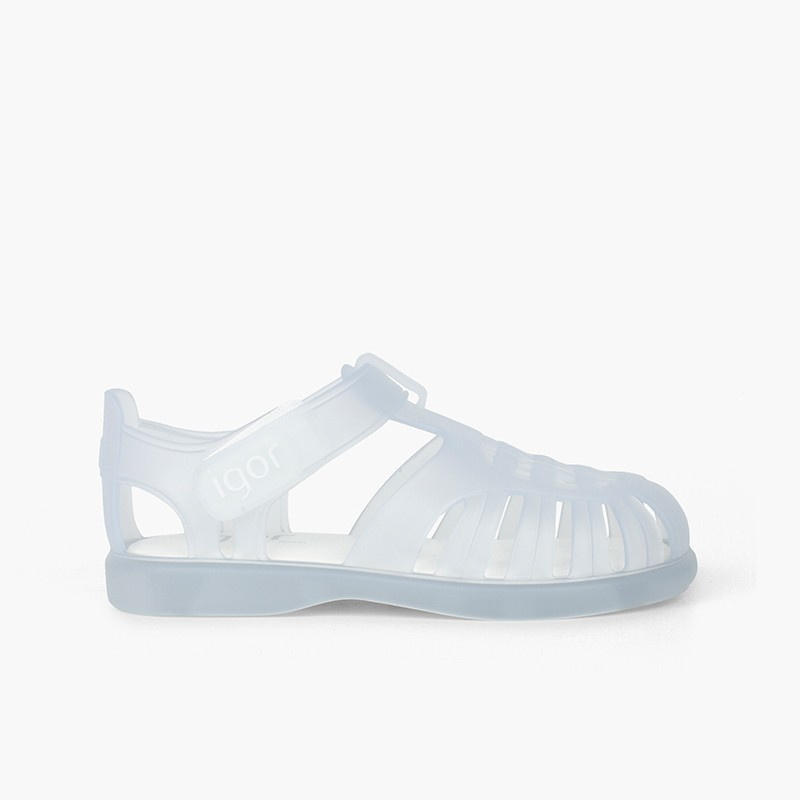 Sandálias de Borracha com Velcro Tobby