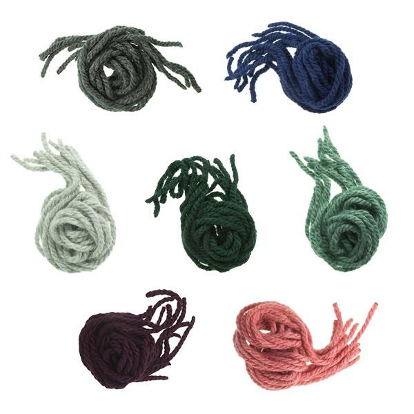 Fios para o cabelo de menina em lã monocolor