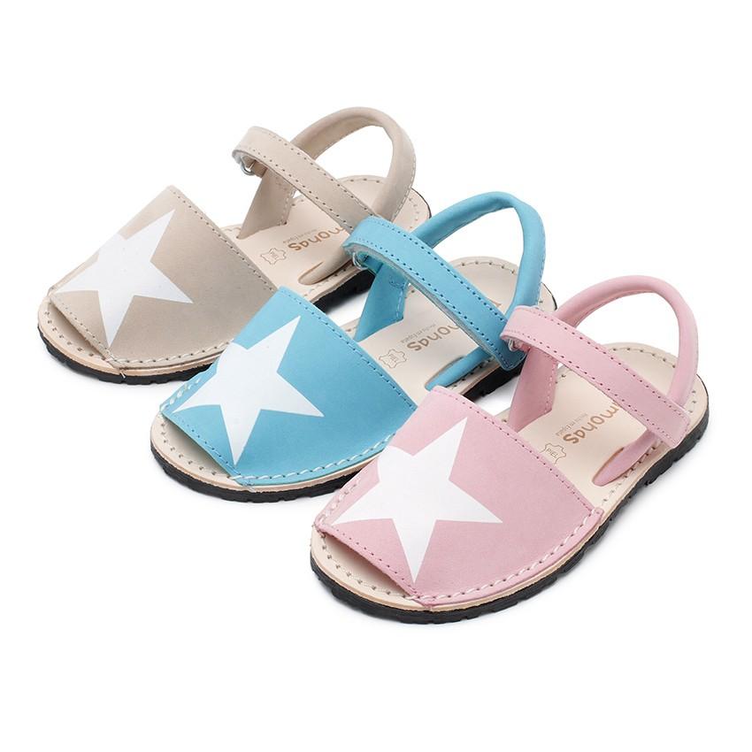 Sandálias Menorquinas Nobuck com Estrela e Velcro