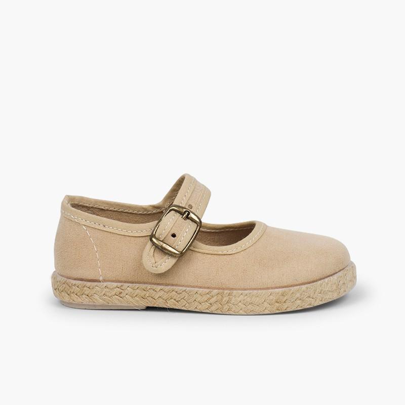 Sapatos Merceditas Fivela Bamara e Juta