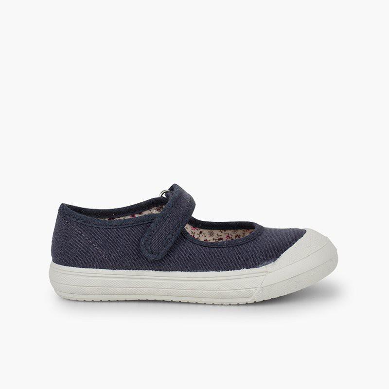 Sapatos Merceditas Velcro Biqueira Borracha Reforçada