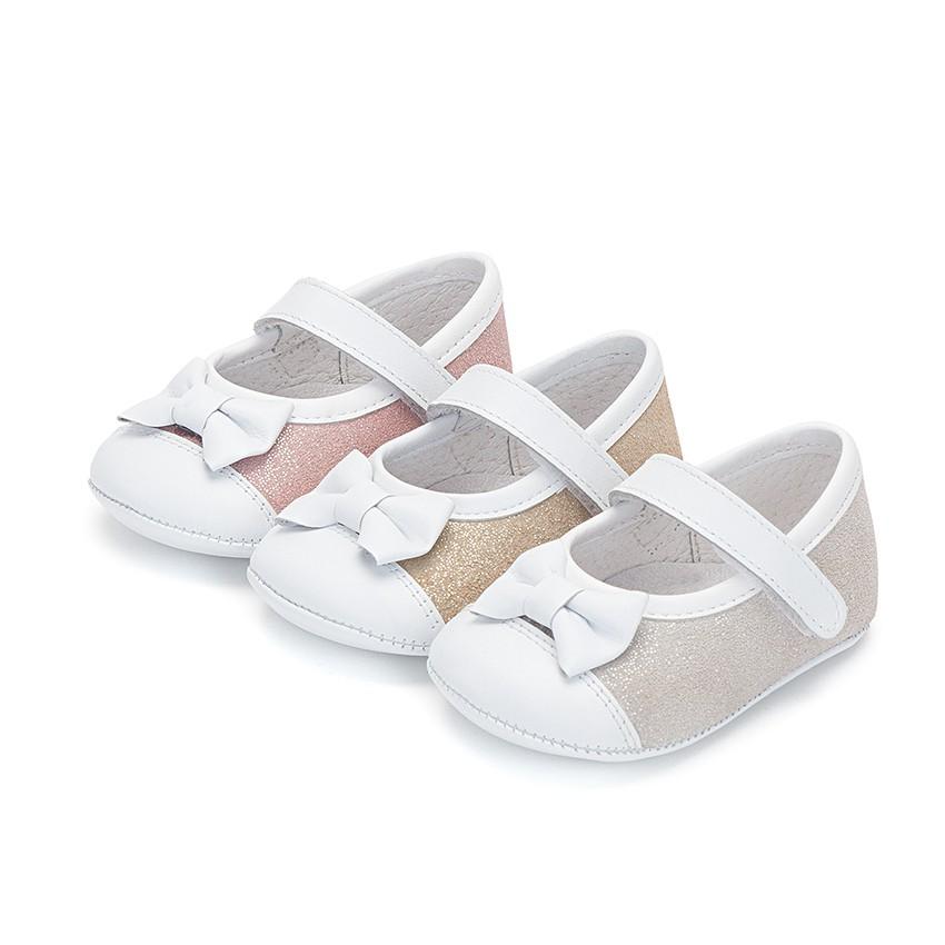 Sapatos Mercedita Bebé Napa e Camurça Brilhos