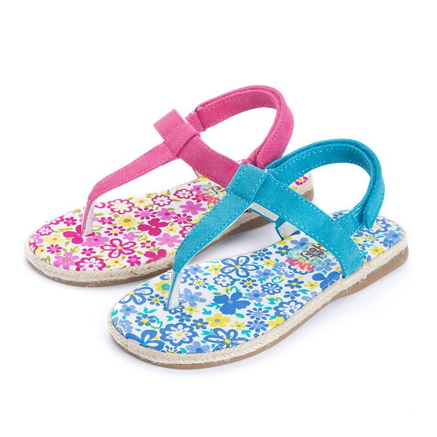 Sandálias de Dedo Lona tiras aderentes   para Meninas